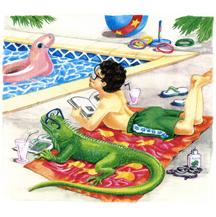 """Boy and Iguana"""