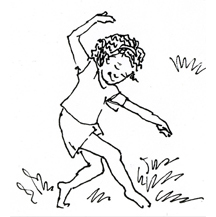 Girl Dancing - Black and White - by Kit Colman