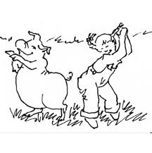 """Girl and Pig Dancing"""