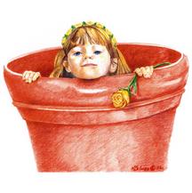 """""""Girl in Flower Pot"""""""