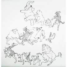 Dancing Animals - Blake and White CD Cover - by Kit Colman