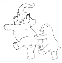 """Bear and Elephant Dancing"""