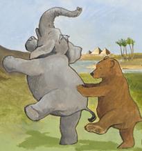 Elephant and Bear by Kit Colman