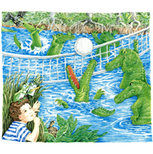 Alligators Playing Volleyball by Kit Colman